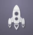 Icon of rocket vector image vector image