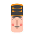 isolated cute nutcracker soldier avatar vector image vector image