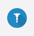 jackhammer Flat Blue Simple Icon with long shadow vector image