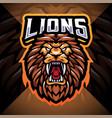 lion head esport mascot logo design vector image vector image