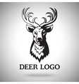 logo template with black deer head vector image vector image