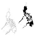 map philippines isolated vector image
