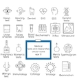 Medical tests and resarches line icons vector image vector image