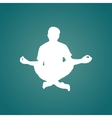 Meditation silhouette vector image
