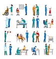 Nurse Icons Set vector image vector image
