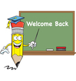 Pencil with a blackboard vector image vector image