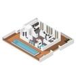 Penthouse apartment isometric icon set vector image vector image