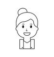 portrait happy woman female cartoon vector image vector image
