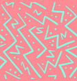 psychedelic chaotic zig zag with dots pattern vector image
