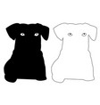 pussy dog silhouette outline icon eps set vector image vector image