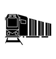 railway logistics train cargo icon vector image vector image
