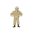 Ranger Standing Attention Cartoon vector image vector image