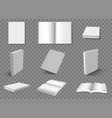 realistic books blank book layouts open and vector image