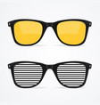 realistic detailed 3d sunglass set vector image vector image