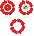 red circle vector image