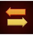 Retro Showtime Sign Design Arrows Cinema Signage vector image vector image