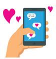 romantic conversation flat concept vector image