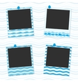 Sea photo frames vector image