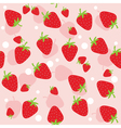 seamless background with strawberries vector image