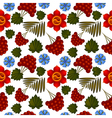 Seamless floral background with Ukrainian motifs vector image vector image