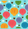 seamless pattern with balloon in blue sky vector image