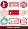 set card of valentines day vintage vector image vector image
