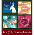 Set of Christmas postcard templates vector image