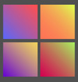 set of gradient futuristic square design vector image vector image