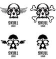 Skull logo set Human skulls set vector image vector image