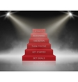 Smoky Stairs Stage Podium with 6 Success steps vector image vector image