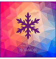 snowflake Abstract snowflake on geometric pattern vector image vector image