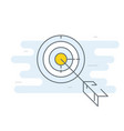 target with arrow icon - goal achieve concept vector image