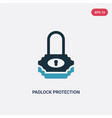 two color padlock protection active icon from vector image vector image