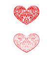 valentines hearts set vector image vector image