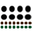 vibrant circle vibrating black brown green circle vector image