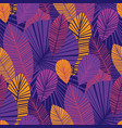 vibrant cool leaves seamless pattern vector image vector image