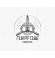 Vintage airplane emblem Biplane label Retro vector image vector image
