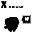 Xray cartoon silhouette vector image vector image