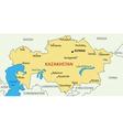 Republic of Kazakhstan - map vector image