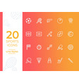 20 sports icon sports symbol modern simple vector image vector image