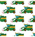 agriculture industrial farm equipment seamless vector image vector image