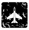Aircraft with missiles icon grunge style vector image vector image
