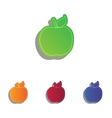 Apple sign Colorfull applique icons vector image vector image