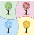 art trees four seasons vector image