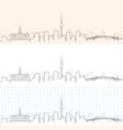 auckland hand drawn skyline