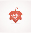 autumn sale texture label with had drawn vector image
