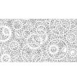 background consisting of gears blueprint style vector image vector image