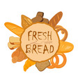 banner with bakery products wheat rye and whole vector image