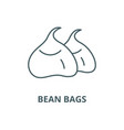 bean bags line icon linear concept vector image vector image