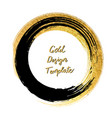 black and gold circle design templates for vector image vector image